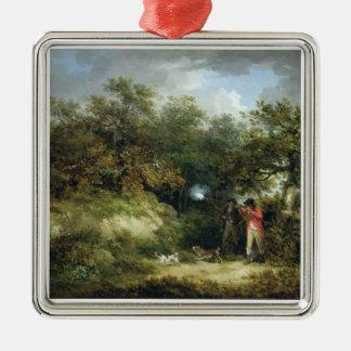 Pheasant Shooting (oil on canvas) 3 Christmas Ornament
