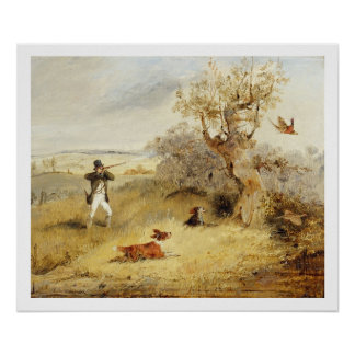 Pheasant Shooting (oil on canvas) 3 Poster