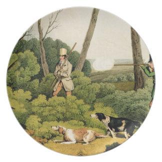 'Pheasant Shooting', pub. by Thomas McLean, 1820 ( Dinner Plates