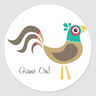 Pheasant Sticker, Game On! Classic Round Sticker