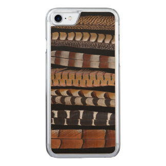 Pheasant tail feathers carved iPhone 7 case