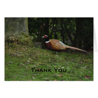 Pheasant Thank You Card Card