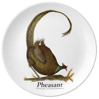 pheasant, tony fernandes porcelain plate