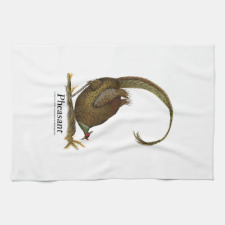 pheasant, tony fernandes tea towel