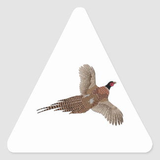 Pheasant without Text Triangle Sticker