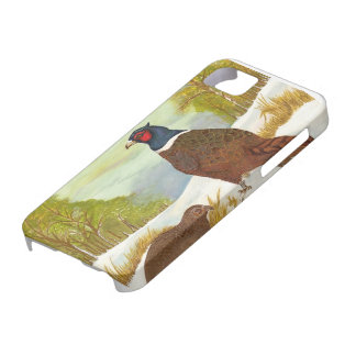 Pheasants in Snow iphone Case