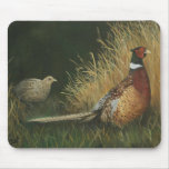 Pheasants in the Field Art Mouse Pad