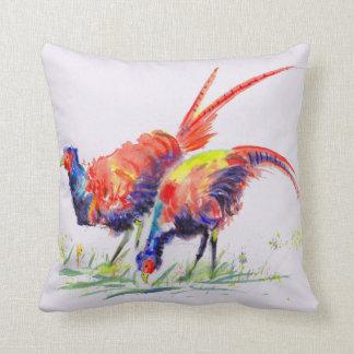 Pheasants Watercolour Cushion