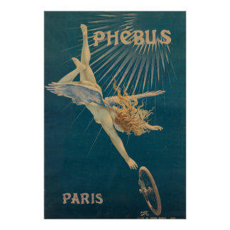 Phebus Vintage French Nouveau Bicycle France Poster