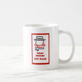 Phenix Dragway Pit Pass Basic White Mug
