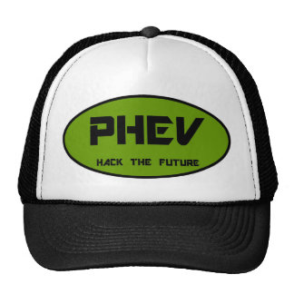 PHEV oval, hack the future Trucker Hats