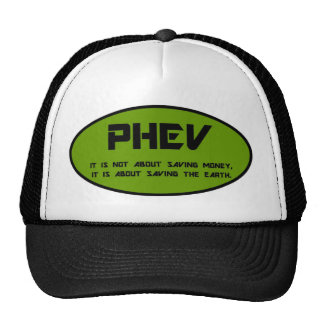 PHEV oval, save the earth Mesh Hats