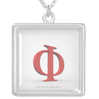 Phi 2 silver plated necklace