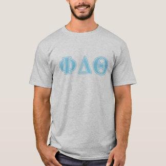 Phi Delta Theta Baby Blue Letters T-Shirt