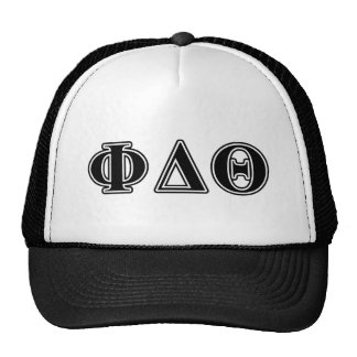 Phi Delta Theta Black Letters Cap