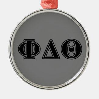 Phi Delta Theta Black Letters Christmas Ornament