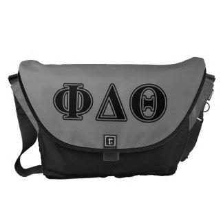 Phi Delta Theta Black Letters Courier Bag