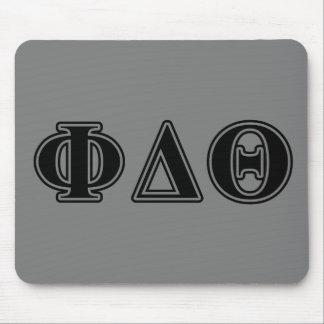 Phi Delta Theta Black Letters Mouse Pad