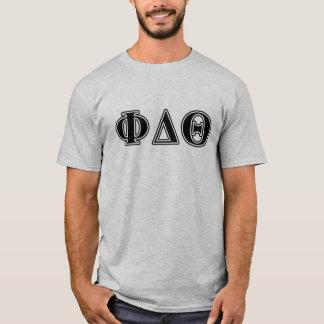 Phi Delta Theta Black Letters T-Shirt