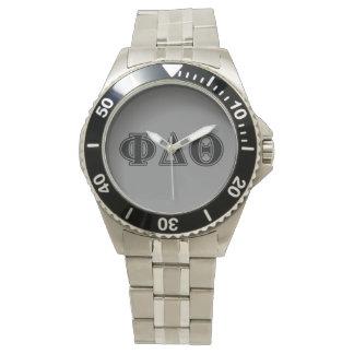 Phi Delta Theta Black Letters Watch