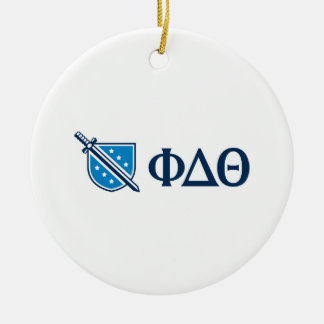 Phi Delta Theta - Blue Greek Lettters and Logo Christmas Ornament