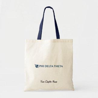 Phi Delta Theta - Blue Horizontal Logo 2 Canvas Bag