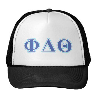 Phi Delta Theta Royal Blue and Baby Blue Letters Cap