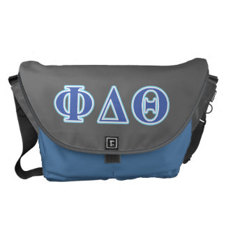 Phi Delta Theta Royal Blue and Baby Blue Letters Courier Bag