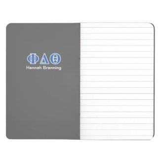 Phi Delta Theta Royal Blue and Baby Blue Letters Journal