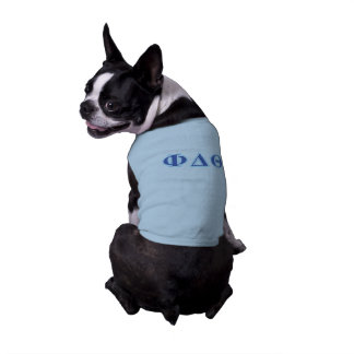 Phi Delta Theta Royal Blue and Baby Blue Letters Sleeveless Dog Shirt