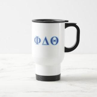 Phi Delta Theta Royal Blue and Baby Blue Letters Travel Mug