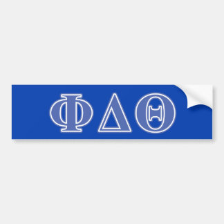 Phi Delta Theta Royal Blue Letters Bumper Sticker