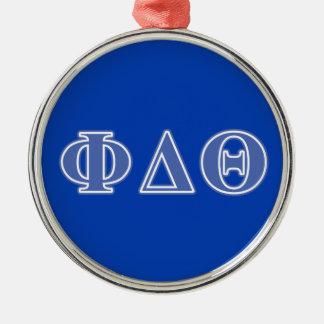 Phi Delta Theta Royal Blue Letters Christmas Ornament