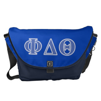 Phi Delta Theta Royal Blue Letters Courier Bags