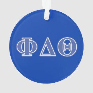 Phi Delta Theta Royal Blue Letters Ornament