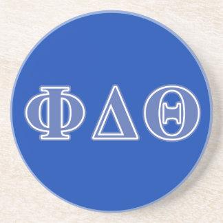 Phi Delta Theta Royal Blue Letters Sandstone Coaster