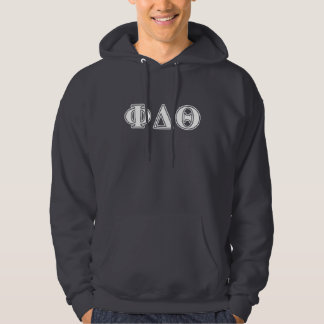 Phi Delta Theta White and Royal Blue Letters Hoodie