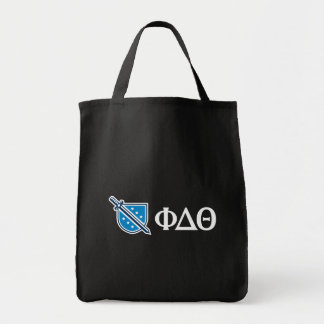 Phi Delta Theta - White Greek Lettters and Logo 2 Tote Bag