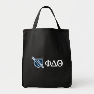 Phi Delta Theta - White Greek Lettters and Logo 3