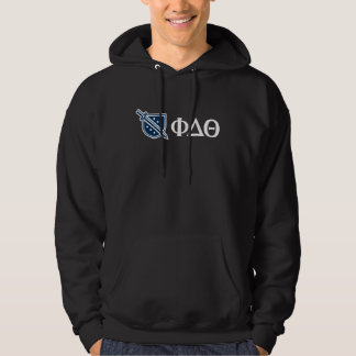 Phi Delta Theta - White Greek Lettters and Logo 3 Hoodie