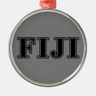 Phi Gamma Delta Black Letters Christmas Ornament