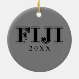 Phi Gamma Delta Black Letters Christmas Ornament