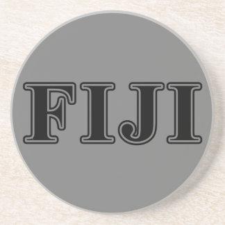 Phi Gamma Delta Black Letters Coaster