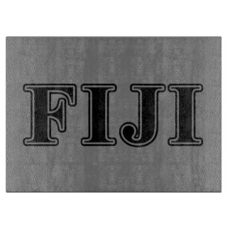 Phi Gamma Delta Black Letters Cutting Board
