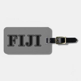 Phi Gamma Delta Black Letters Luggage Tag