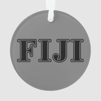 Phi Gamma Delta Black Letters Ornament