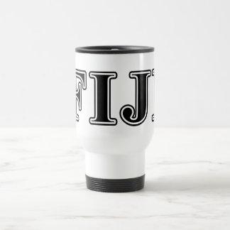 Phi Gamma Delta Black Letters Travel Mug
