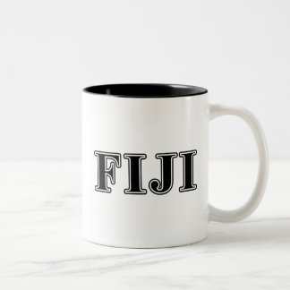 Phi Gamma Delta Black Letters Two-Tone Coffee Mug