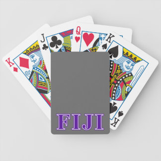 Phi Gamma Delta Purple Letters Bicycle Playing Cards
