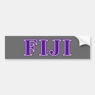 Phi Gamma Delta Purple Letters Bumper Sticker